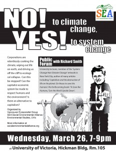 No to climate change yes to system change