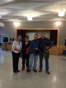 Raven Sinclair (facilitator), Colleen Cardinal (volunteer), Dale Whitford (me!), Thomas Loutitt (Elder)