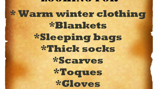 Winter Warm Clothing Drive